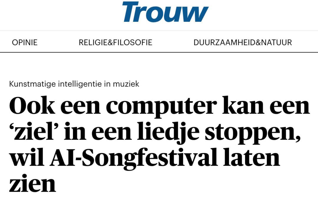 Ook een computer kan een 'ziel' in een liedje stoppen, wil AI-Songfestival laten zien