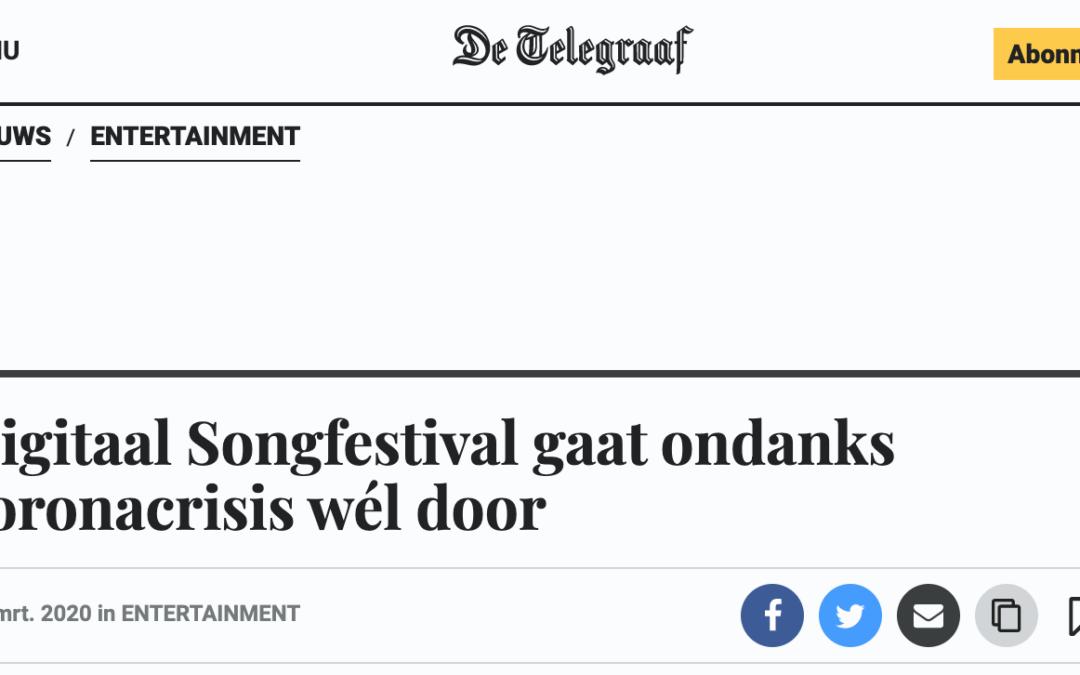Digitaal Songfestival gaat ondanks coronacrisis wél door