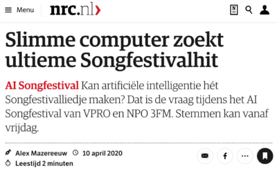 Slimme computer zoekt ultieme Songfestivalhit